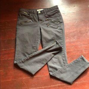 Zara basics grey  zipper jeans skinny 4